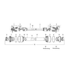 CM-120,150,180 PTO Shaft