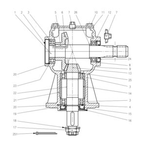 CR-24/2 & 24/4 Gearbox-Part No. WX-5257