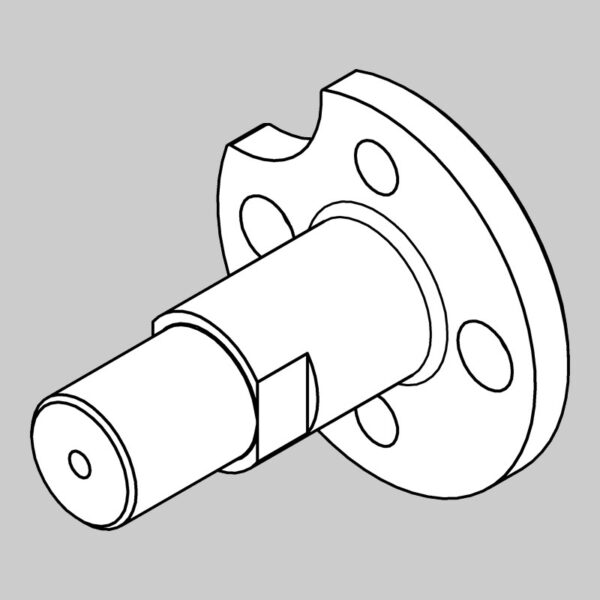 Roller Spindle (long, Cut-out) -0