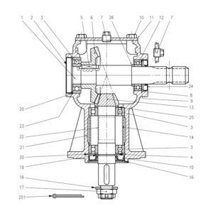 CRX-410 Gearbox Part No. WX-5257