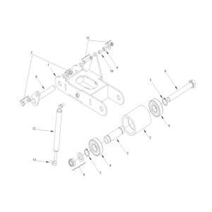 RMX-560/680/800 TENSIONER ARM ASSEMBLY