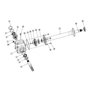 RC Rotary Cultivator - Gearbox Assembly