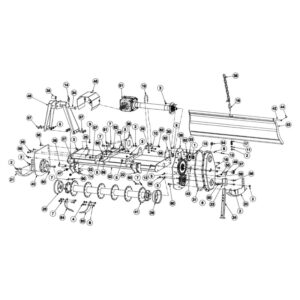 RC ROTARY CULTIVATOR - RC-150 Main Frame & Rotar Assembly