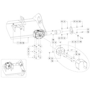 WFM 200/225 HD - Gearbox and Locking Plate Assembly