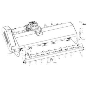WFM 145/160/175/205/220 - Rear Cover with Racks