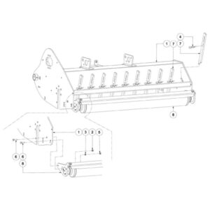 WFM 200/225 HD - Roller and Rake Assembly with Frame