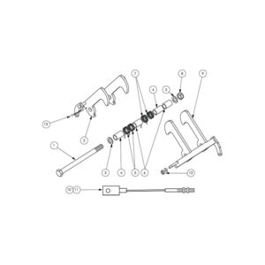 Wessex CRX-320 Centre Latch Assembly-0
